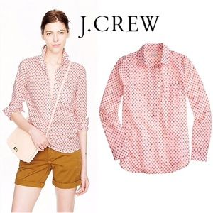 J. Crew Camp Popover Button Blouse in Flower Bud 2